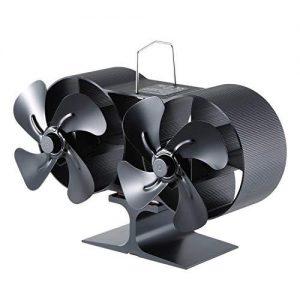 estufa de leña con horno y ventilador