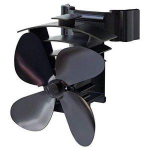 estufa de leña ventilador