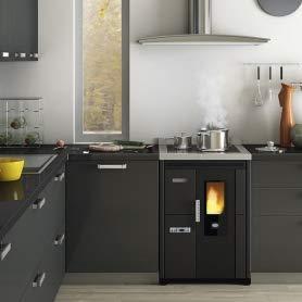 estufa de pellets con horno